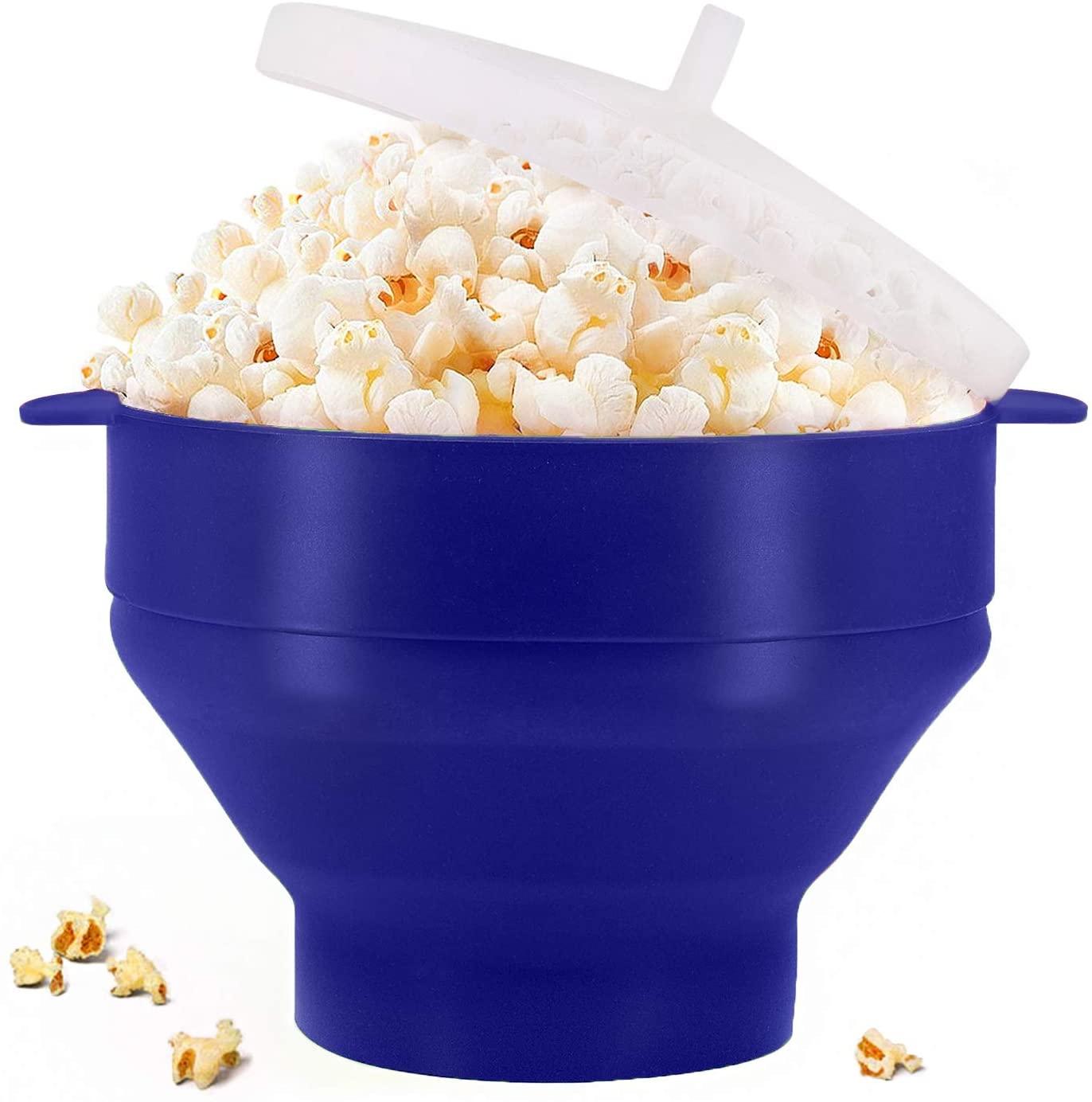 POP STAR - Silicone Popcorn Popper - Blue